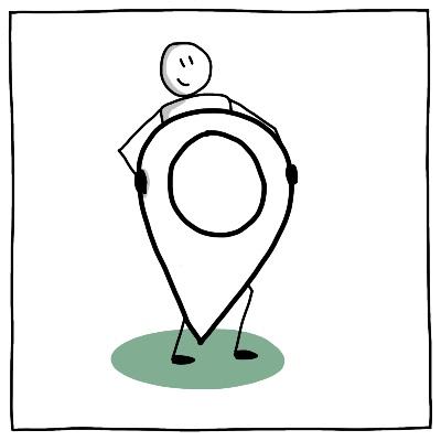 Symbool BPV stage op locatie groen