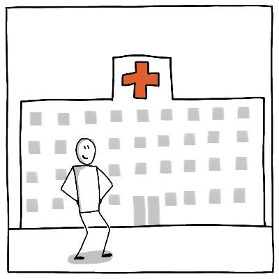 Symbool BPV zorg ziekenhuis
