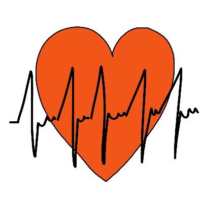Hoe teken je een symbool voor hartslag hart gezondheid ziekenhuis zorg