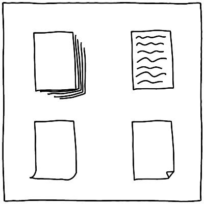 Eenvoudige tekening maken papier document dossier