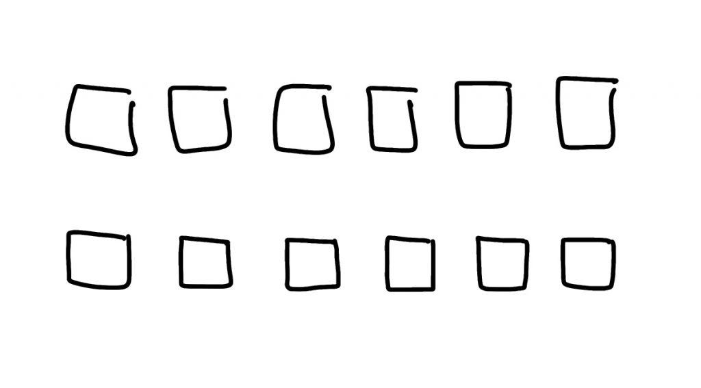 Basisvormen visueel alfabet oefenen