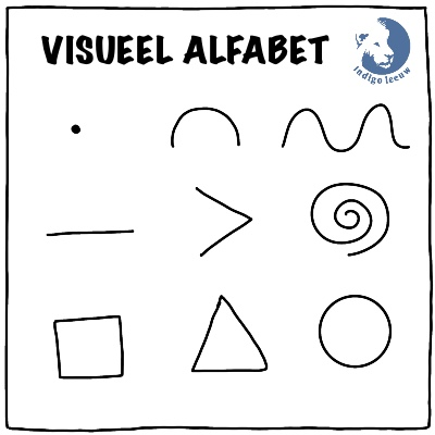 Visueel alfabet eenvoudige tekeningen maken