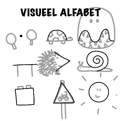Visueel alfabet om eenvoudige tekeningen te maken
