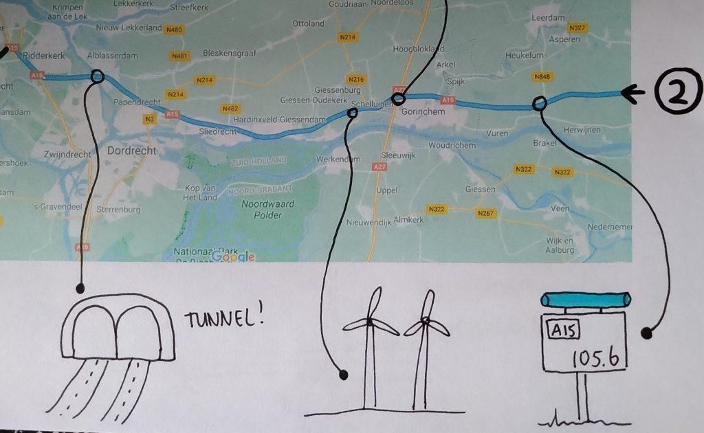 Visuele routekaart voor een ontspannen autorit met jonge kinderen