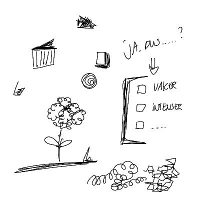Doodlen om te oefenen met tekenen in je werk