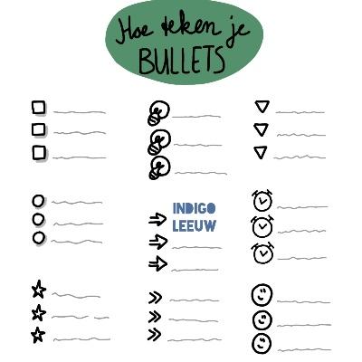 Tekenen toepassen in je werk met bullets visueel aantrekkelijk