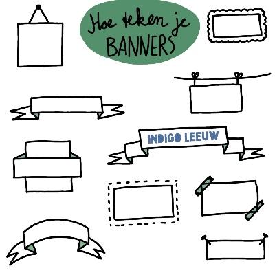 Hoe teken je banners tekenen in je werk toepassen met kaders titels