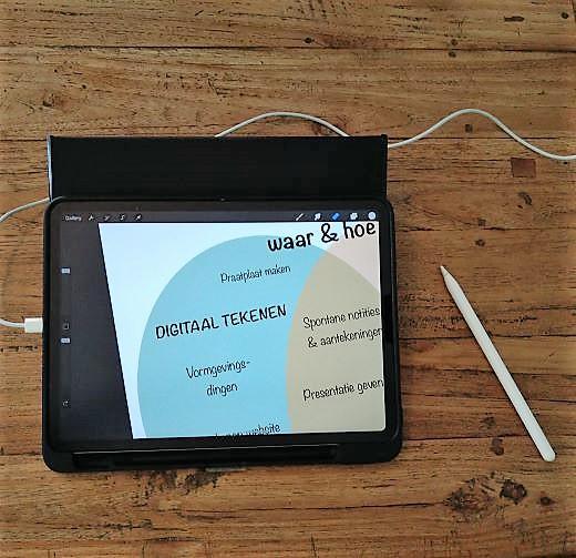 Digitaal tekenen op een ipad