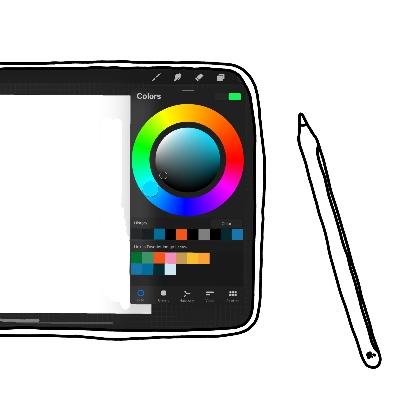 Ipad met procreate gebruiken voor zakelijk tekenen in je werk
