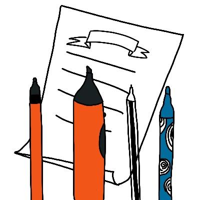 Zakelijk tekenen met pen en papier